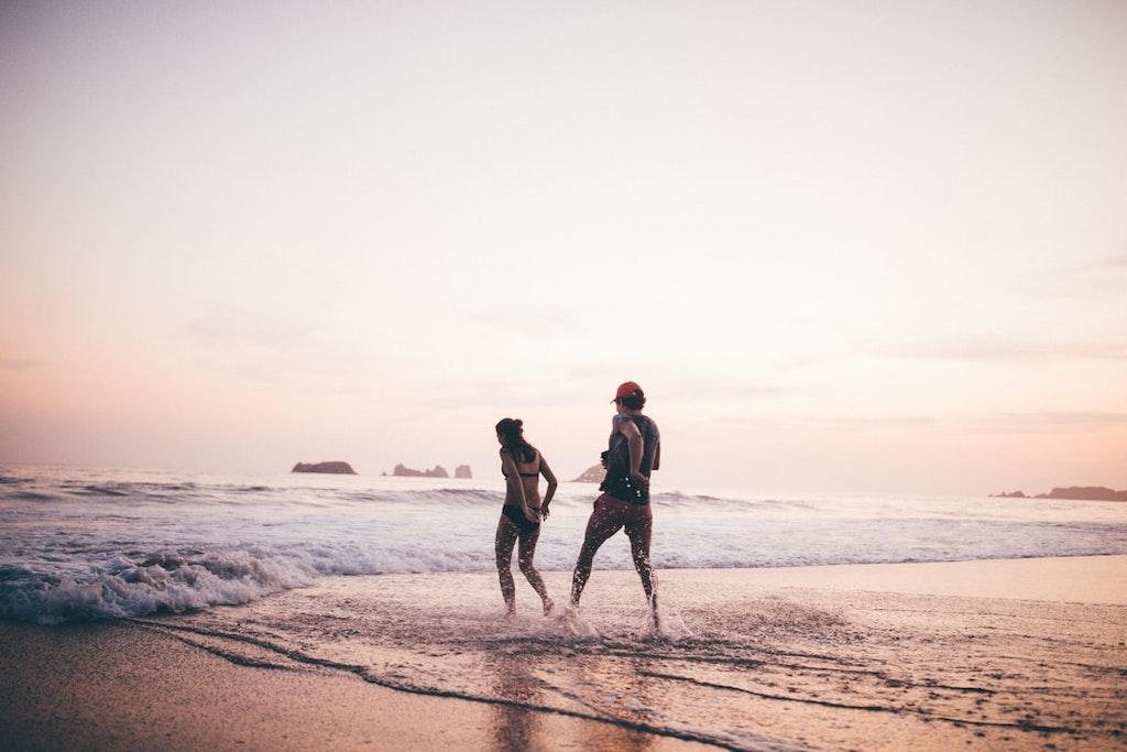 A Romantic Walk On The Playa Quemada Beach