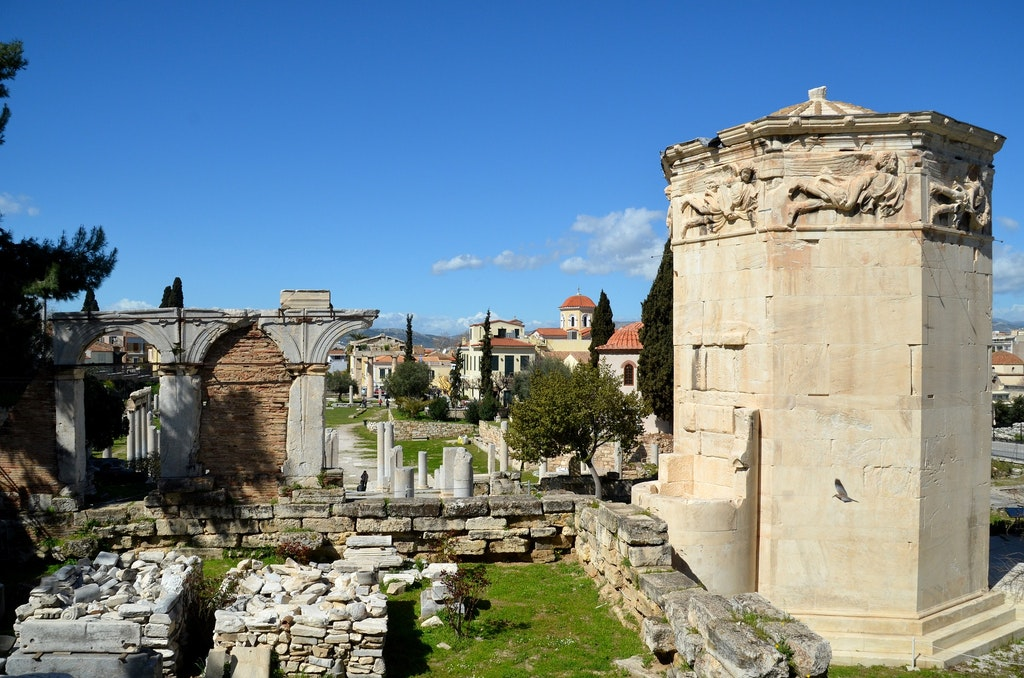 Roman Agora and Tower of Wind, Best historical sites to visit in Athens Greece