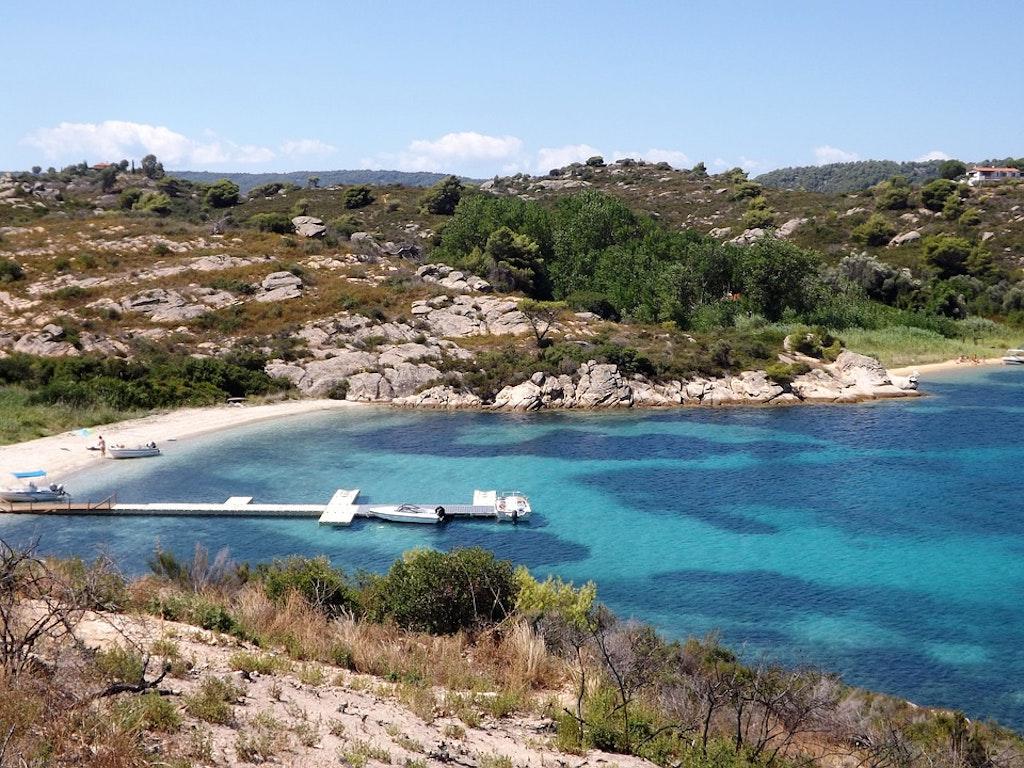 A boat trip around Diaporos island, Halkidiki