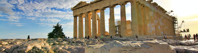 Ancient sculptures in Greece