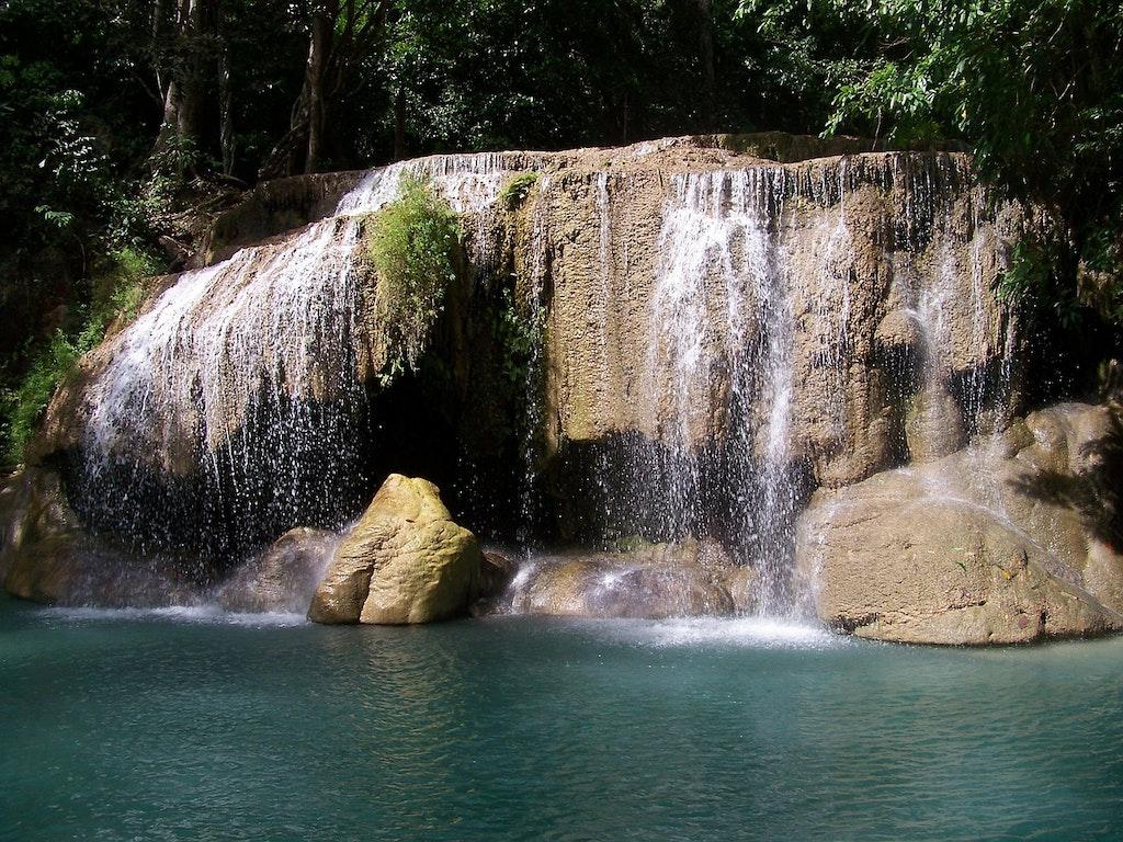 Cascada Erawan Naturaleza Tailandia